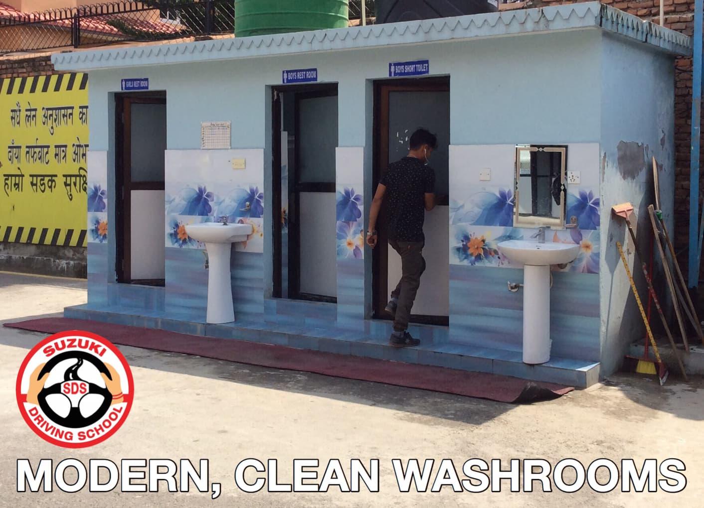 MODERN< CLEAN TOILETS